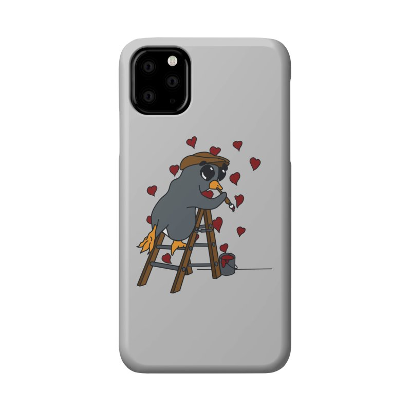Penguin Painting Little Hearts Accessories Phone Case by bluetea1400's Artist Shop