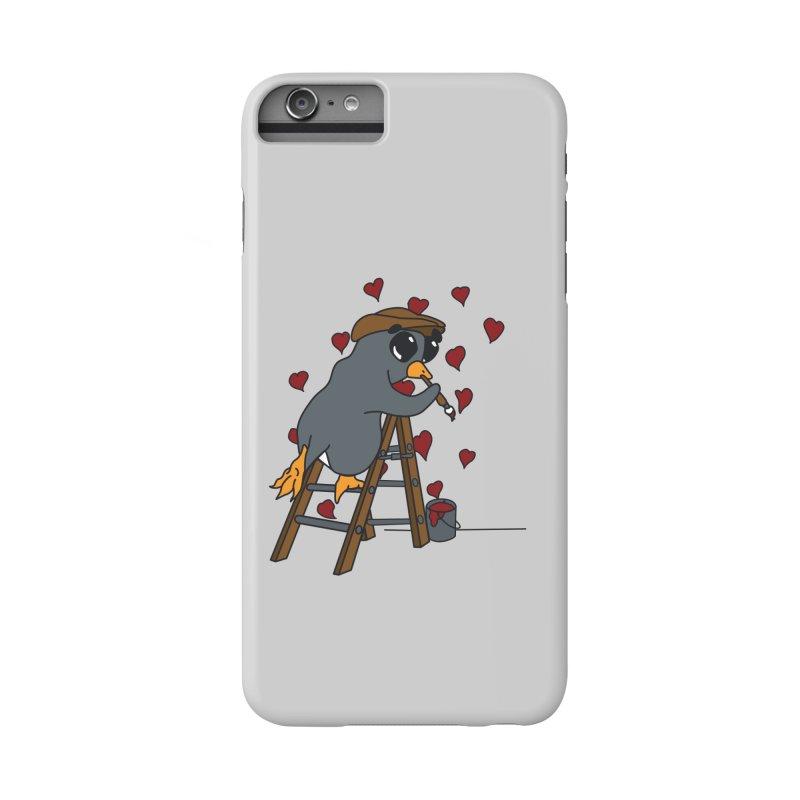 Penguin Painting Little Hearts Accessories Phone Case by bluetea1400's Artist Shop
