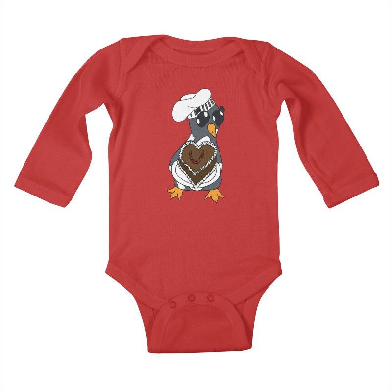 <3 U, baked Kids Baby Longsleeve Bodysuit by bluetea1400's Artist Shop