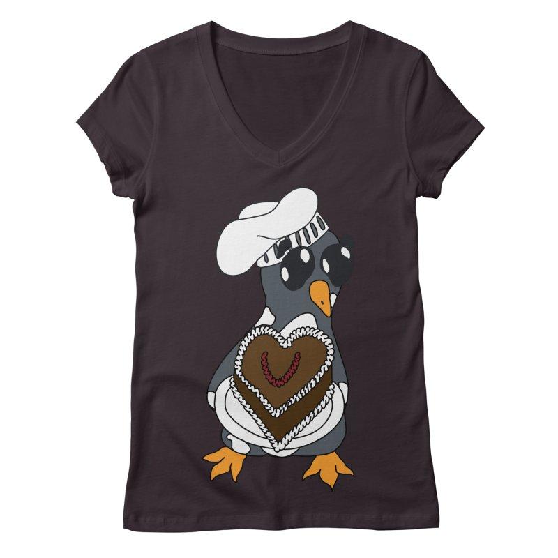 <3 U, baked Women's V-Neck by bluetea1400's Artist Shop