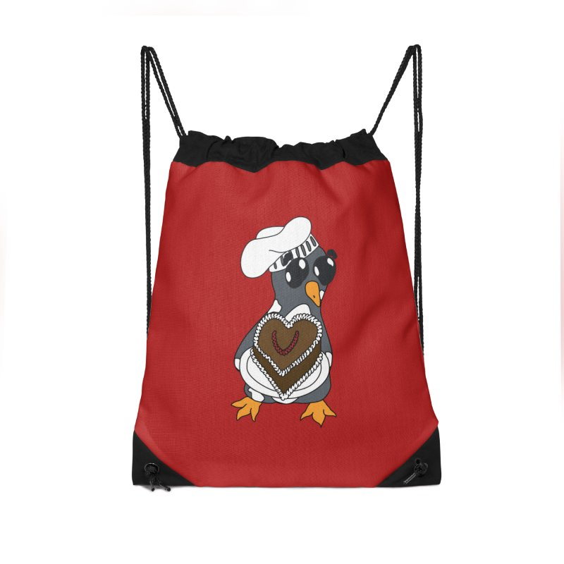 <3 U, baked Accessories Drawstring Bag Bag by bluetea1400's Artist Shop