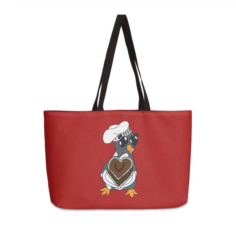 <3 U, baked Accessories Weekender Bag Bag by bluetea1400's Artist Shop