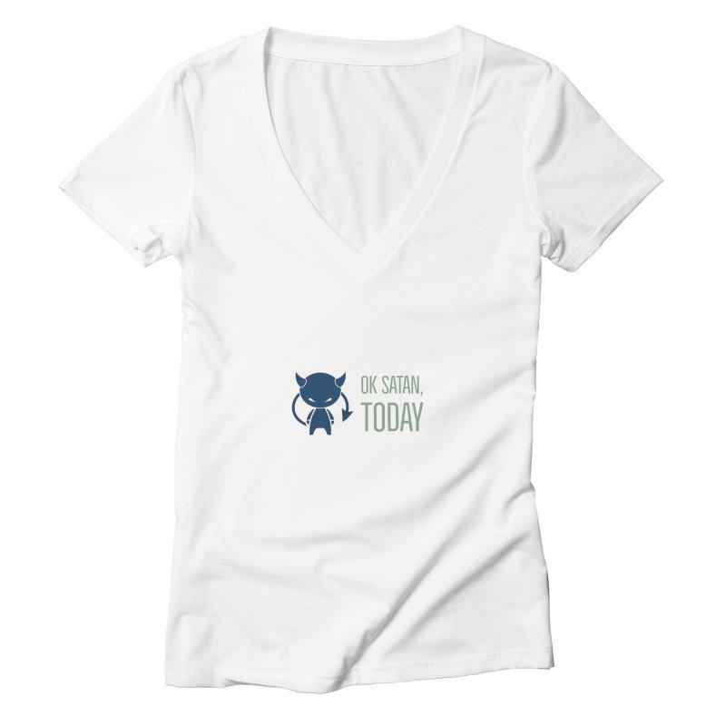 OK Satan Women's V-Neck by Blueteamgo's Shirt Shop