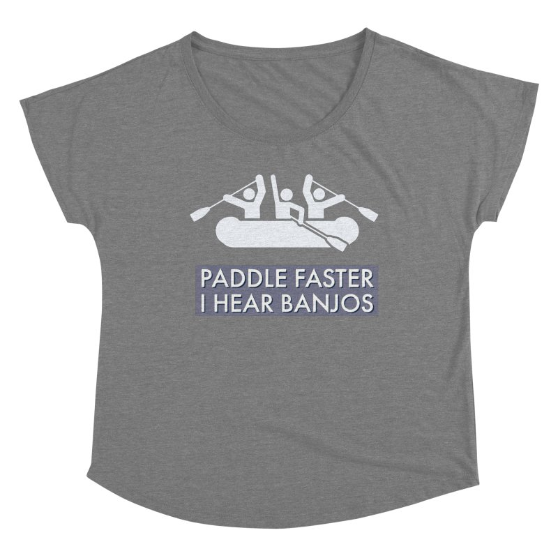Paddle Faster Women's Scoop Neck by Blueteamgo's Shirt Shop