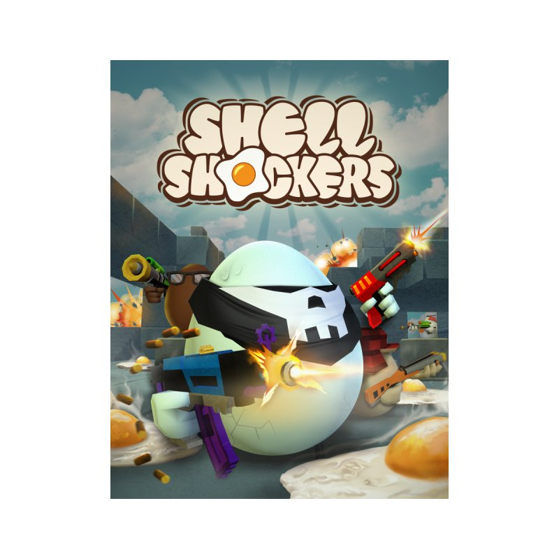 Shell Shockers - Get Yolked Home Framed Fine Art Print by Blue Wizard Digital