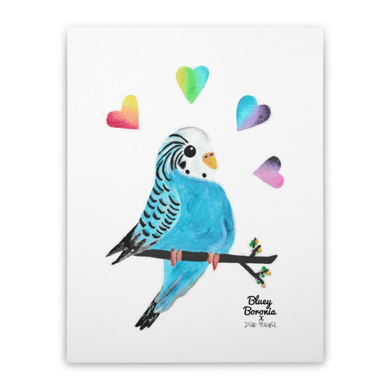 Bluey Boronia x Dead Peaceful (2020) Home Stretched Canvas by Bluey Boronia & friends - Artist Shop