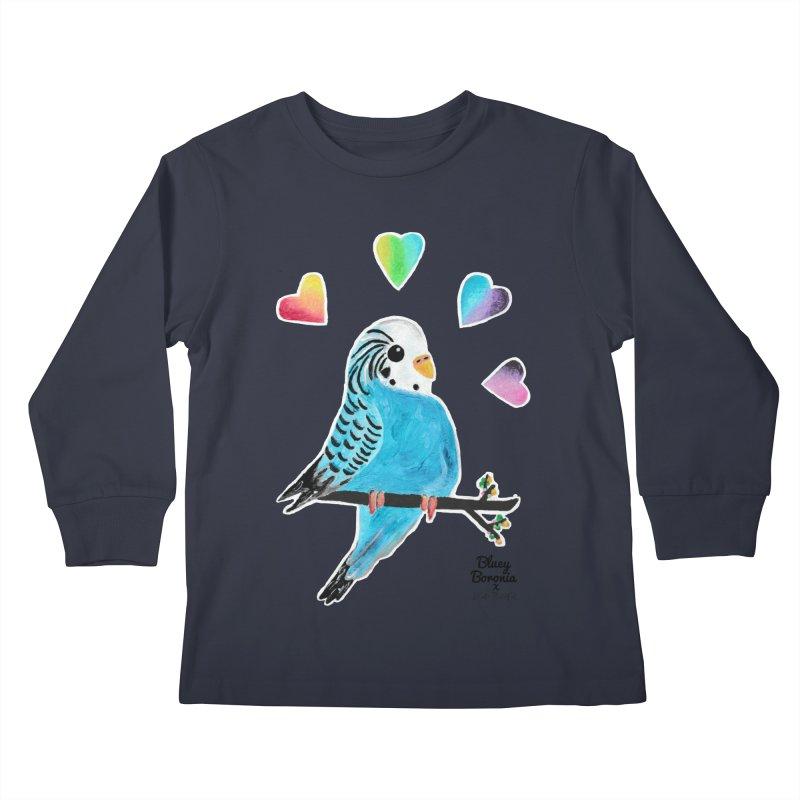 Bluey Boronia x Dead Peaceful (2020) Kids Longsleeve T-Shirt by Bluey Boronia & friends - Artist Shop