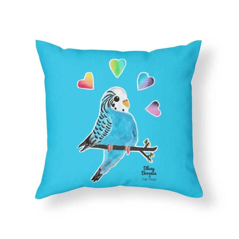 Bluey Boronia x Dead Peaceful (2020) Home Throw Pillow by Bluey Boronia & friends - Artist Shop