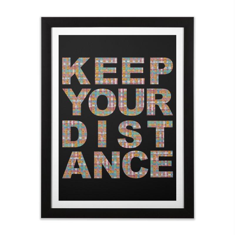 Keep your distance (BWT 2021) Home Framed Fine Art Print by Bluey Boronia & friends - Artist Shop