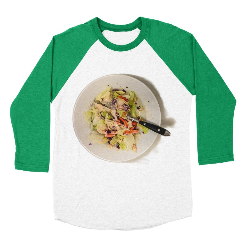 Green Salad #1 Men's Baseball Triblend T-Shirt by blunderingweejumble's Artist Shop