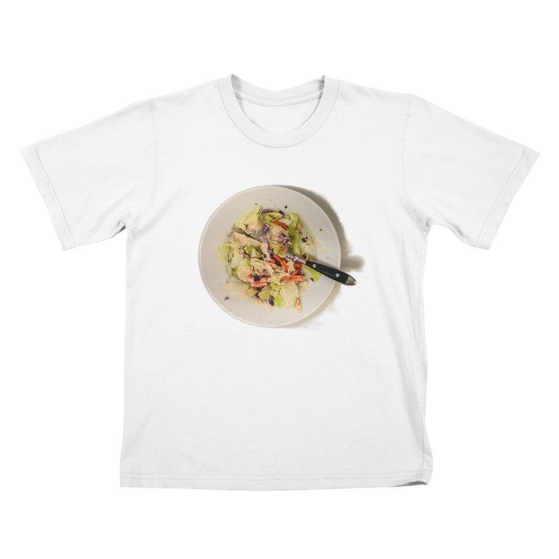 Green Salad #1 Kids T-shirt by blunderingweejumble's Artist Shop