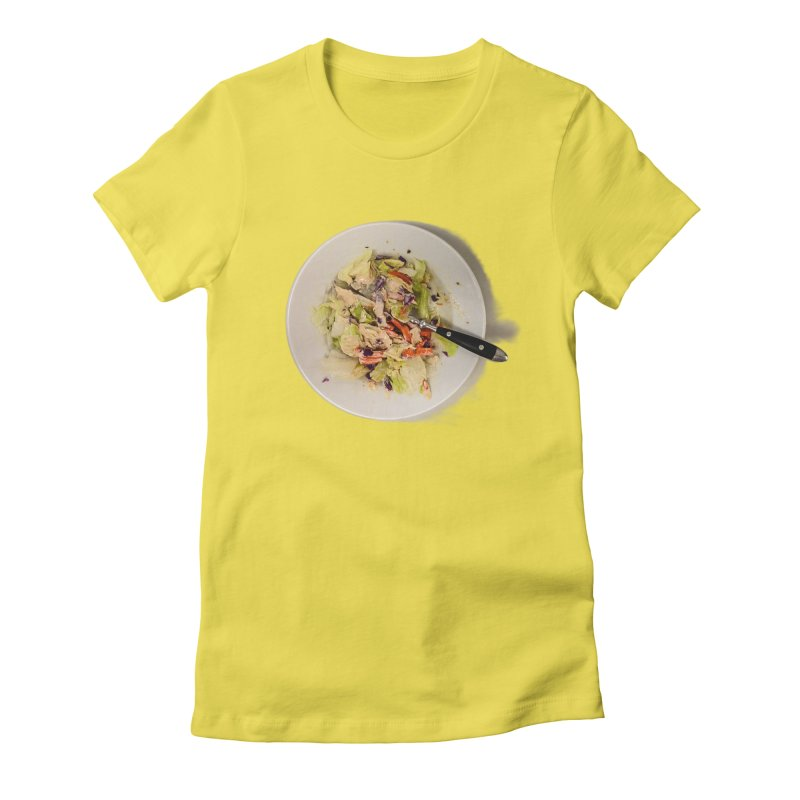 Green Salad #1 Women's Fitted T-Shirt by blunderingweejumble's Artist Shop