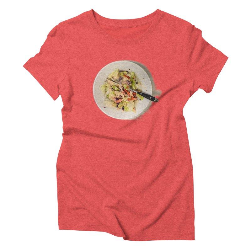 Green Salad #1 Women's Triblend T-Shirt by blunderingweejumble's Artist Shop