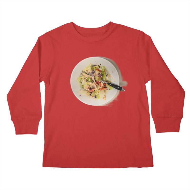 Green Salad #1 Kids Longsleeve T-Shirt by blunderingweejumble's Artist Shop