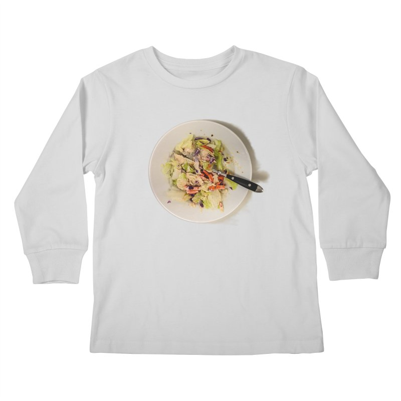 Green Salad #1 Kids Longsleeve T-Shirt by blunderingweejumble's Artist Shop