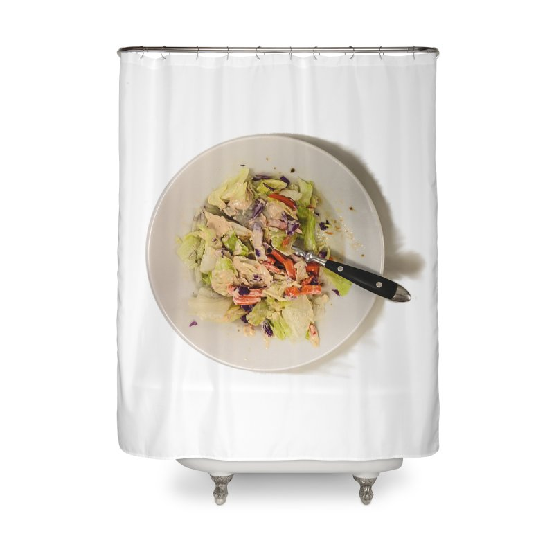 Green Salad #1 Home Shower Curtain by blunderingweejumble's Artist Shop