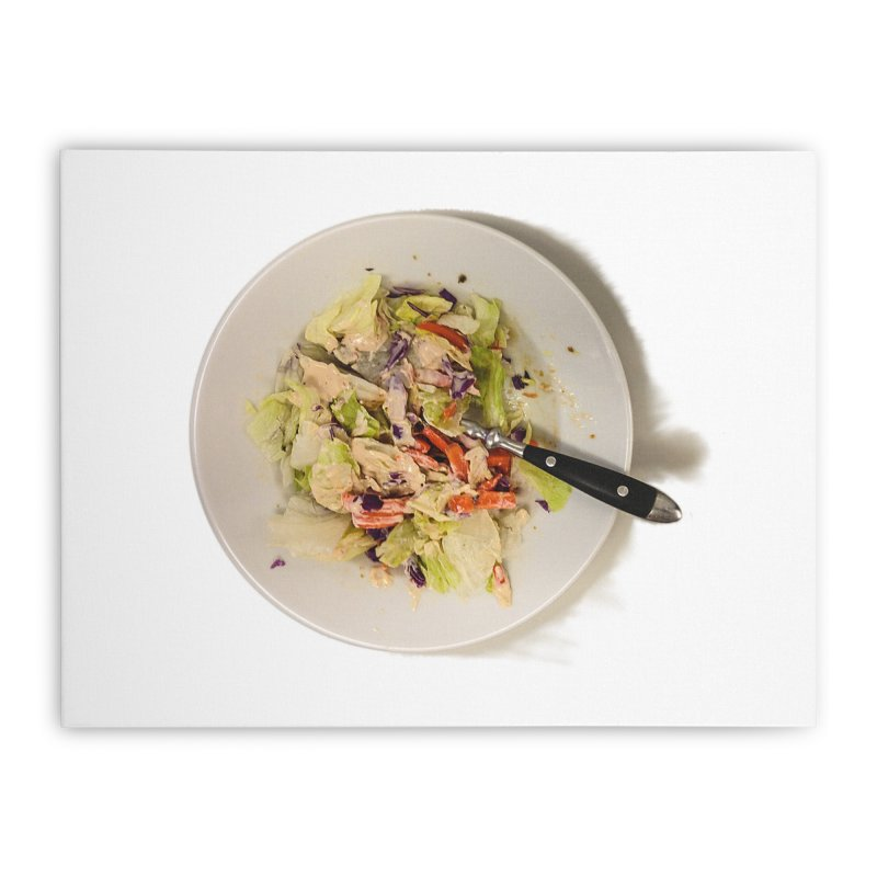 Green Salad #1 Home Stretched Canvas by blunderingweejumble's Artist Shop
