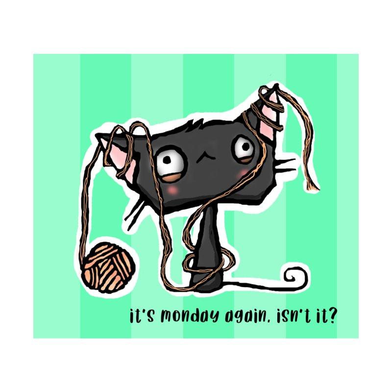 It's Monday Again, Isn't It? Men's T-Shirt by b l u s h i n g m e o w