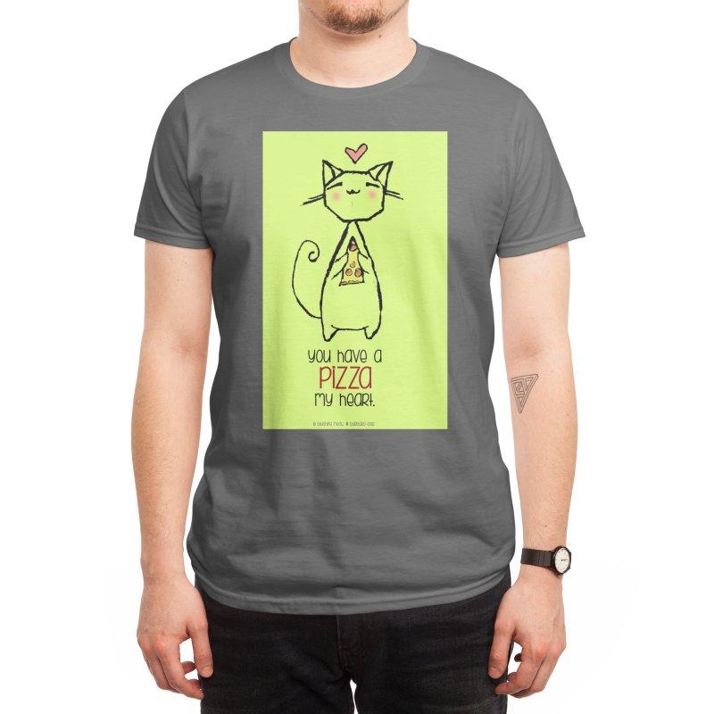 You Have a Pizza My Heart Men's T-Shirt by b l u s h i n g m e o w