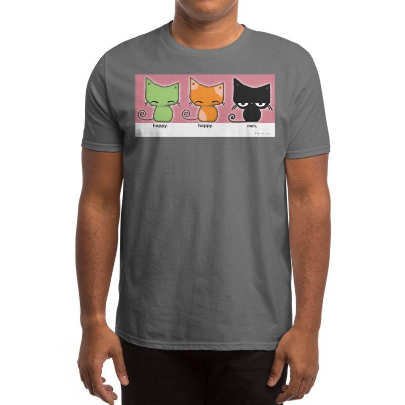 Happy.Happy.Meh. Men's T-Shirt by b l u s h i n g m e o w