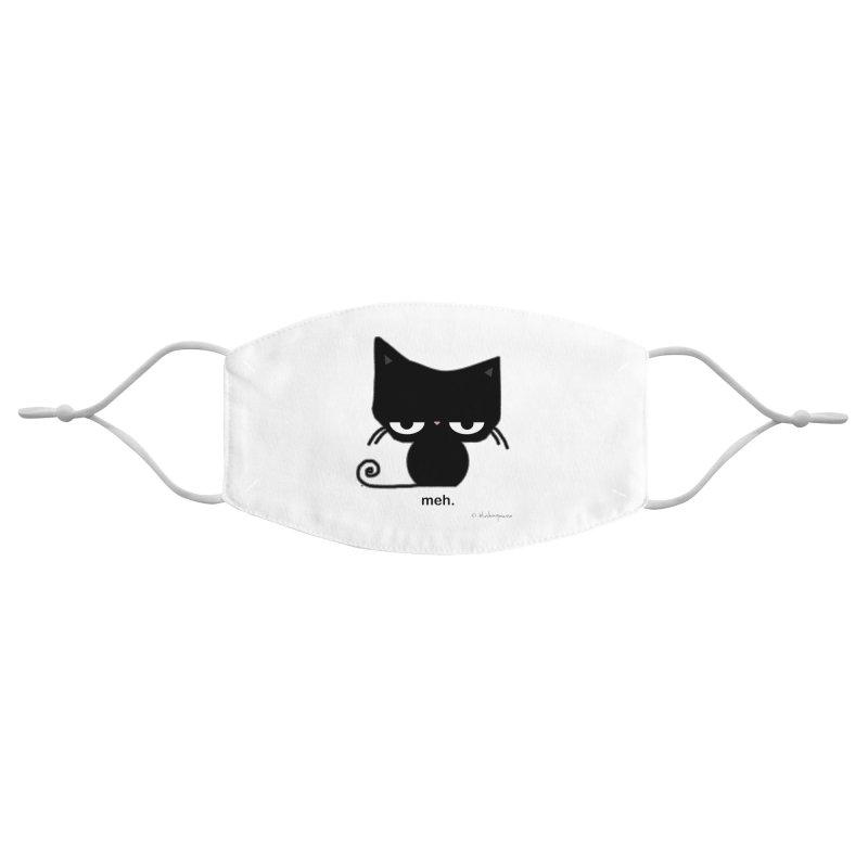 The Meh Cat Accessories Face Mask by b l u s h i n g m e o w