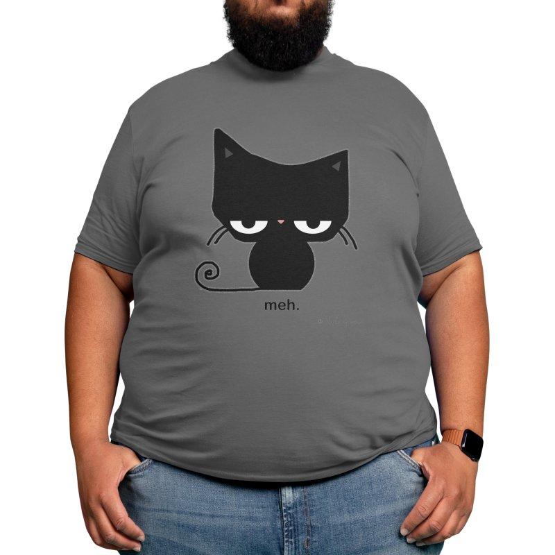 The Meh Cat Men's T-Shirt by b l u s h i n g m e o w