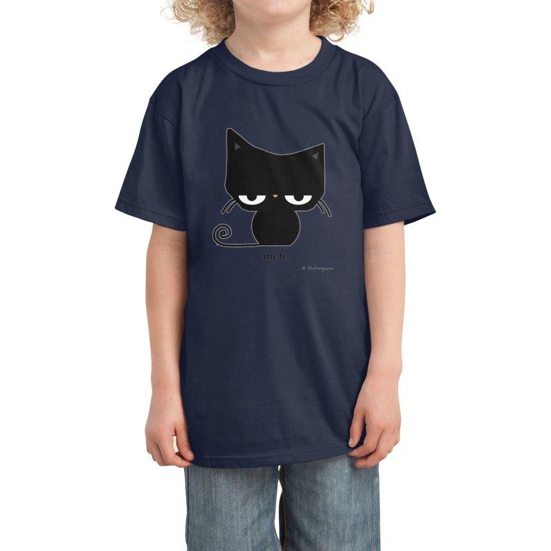 The Meh Cat Kids T-Shirt by b l u s h i n g m e o w