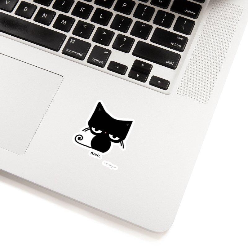 The Meh Cat Accessories Sticker by b l u s h i n g m e o w