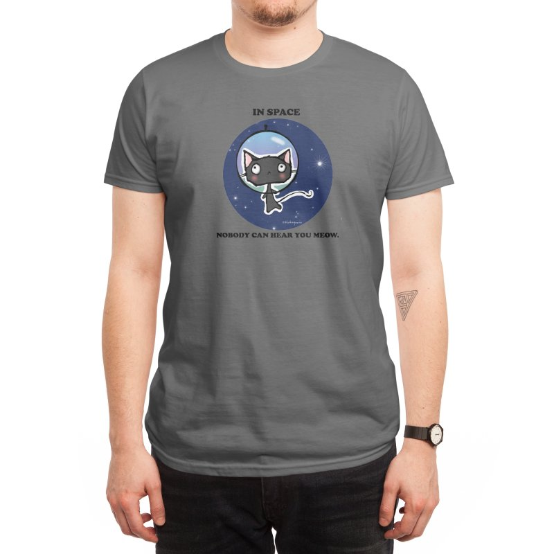 Space Cat Men's T-Shirt by b l u s h i n g m e o w