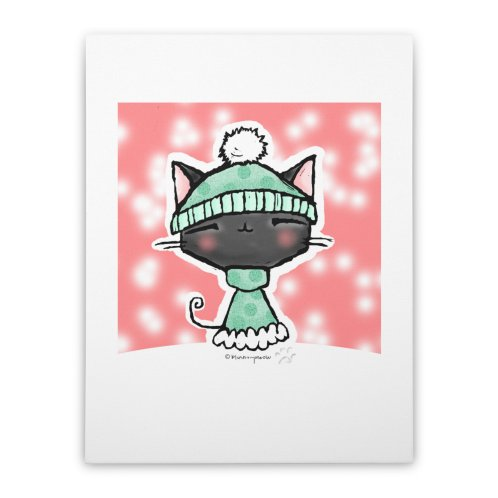 image for Bundled Up Kawaii Kitty in Snow