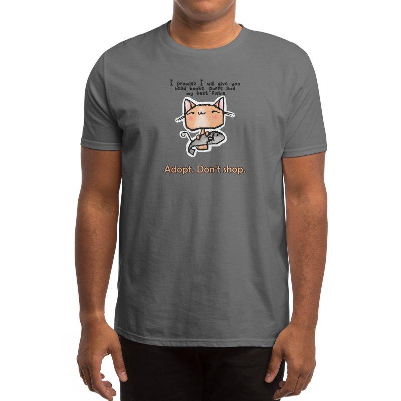 Adopt. Don't Shop. Men's T-Shirt by b l u s h i n g m e o w