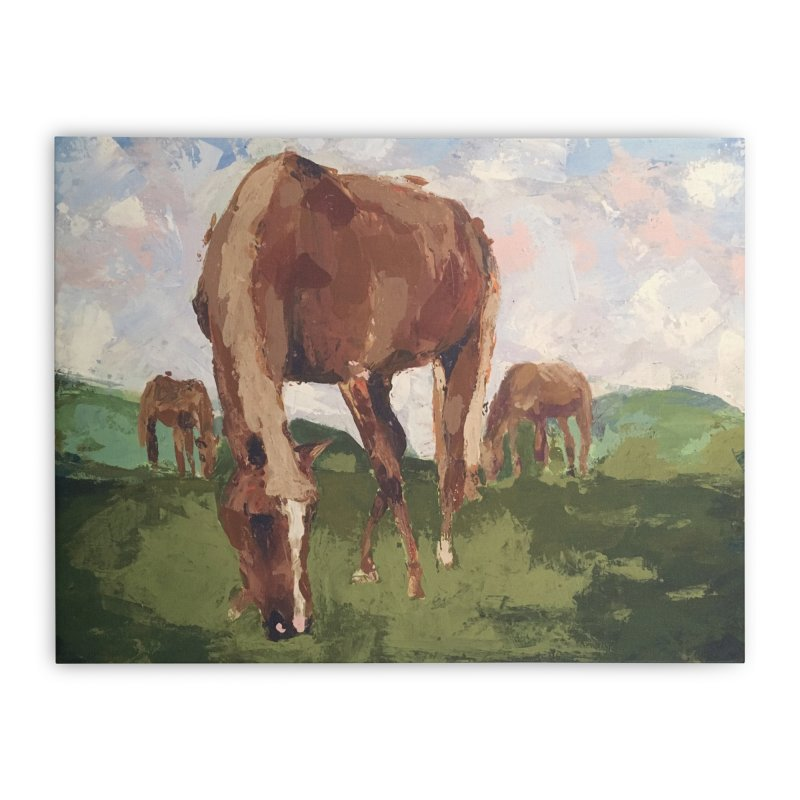 In the Pasture Home Stretched Canvas by bmartinart's Artist Shop