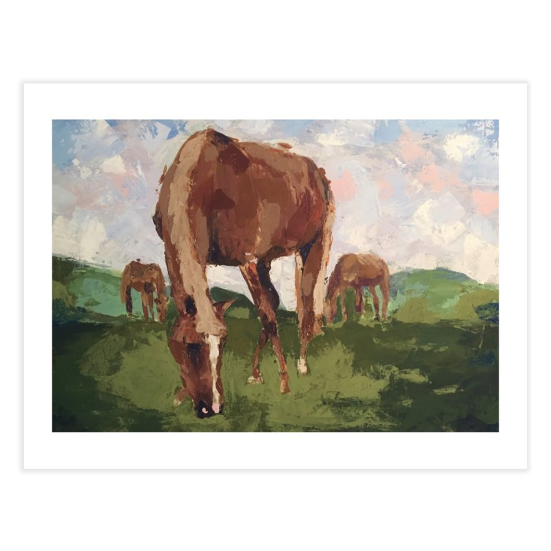 In the Pasture Home Fine Art Print by bmartinart's Artist Shop