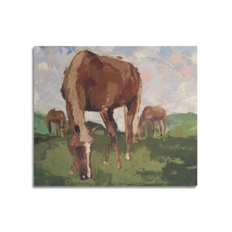 In the Pasture Home Mounted Aluminum Print by bmartinart's Artist Shop