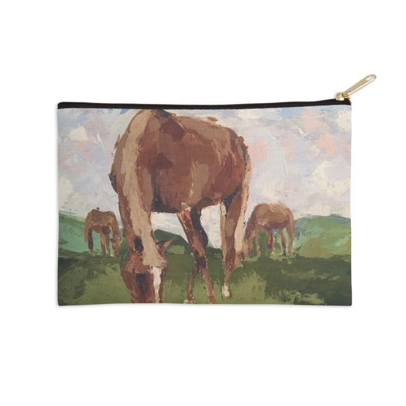In the Pasture Accessories Zip Pouch by bmartinart's Artist Shop