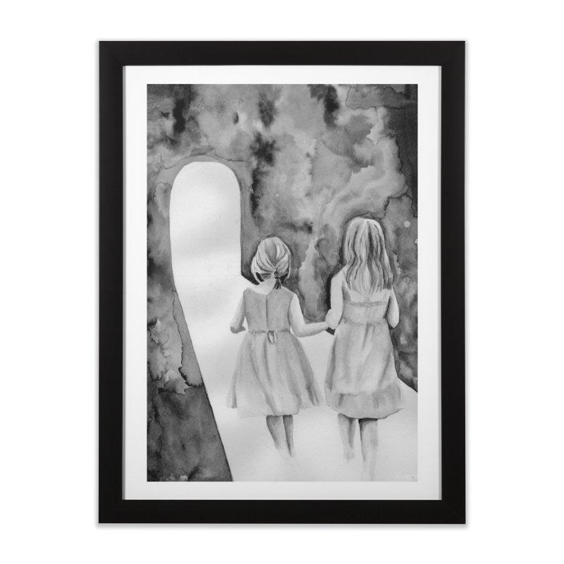 Psychopomp Home Framed Fine Art Print by bmartinart's Artist Shop