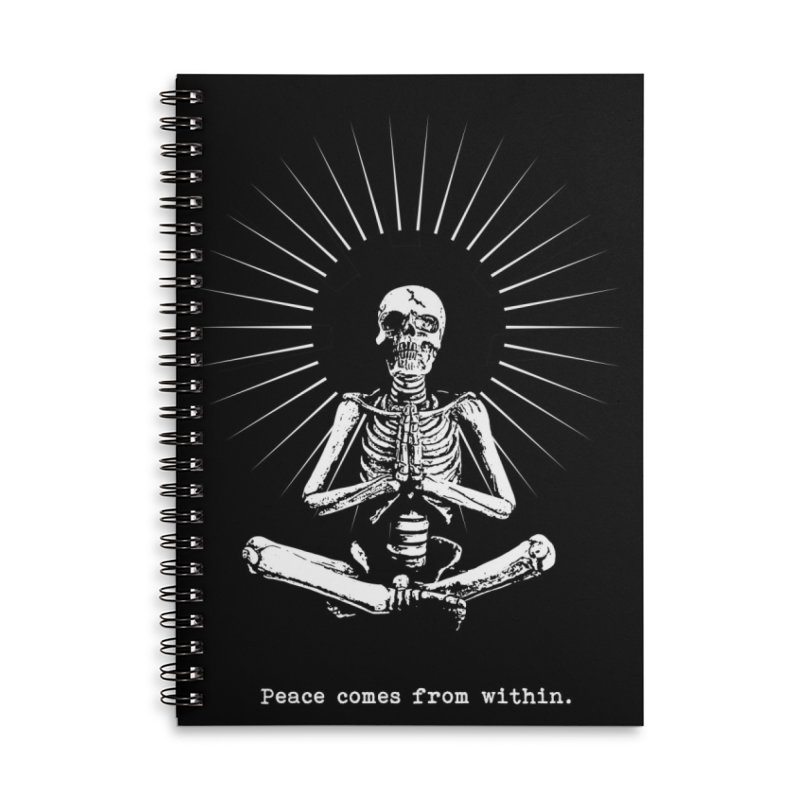 Peace from Within Accessories Lined Spiral Notebook by bmartinart's Artist Shop