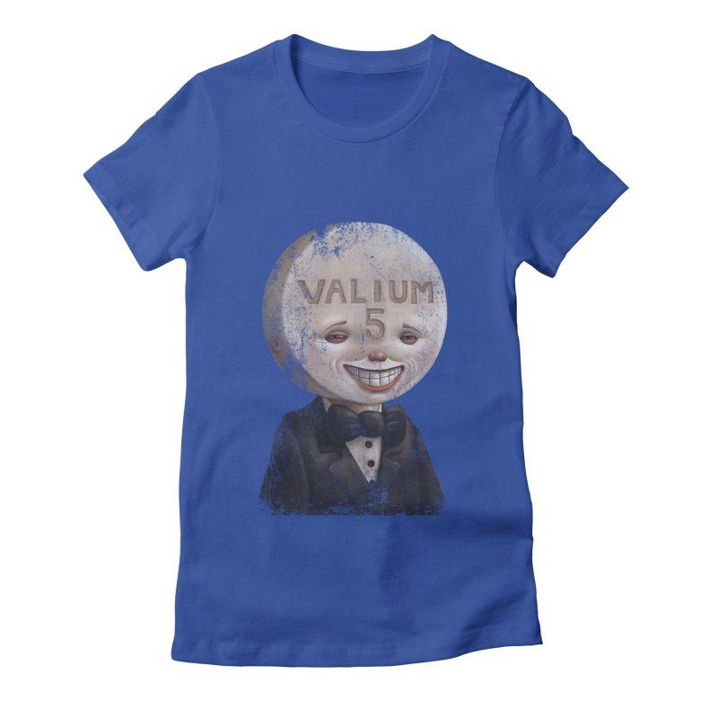 Pill Head Women's Fitted T-Shirt by Bob Dob
