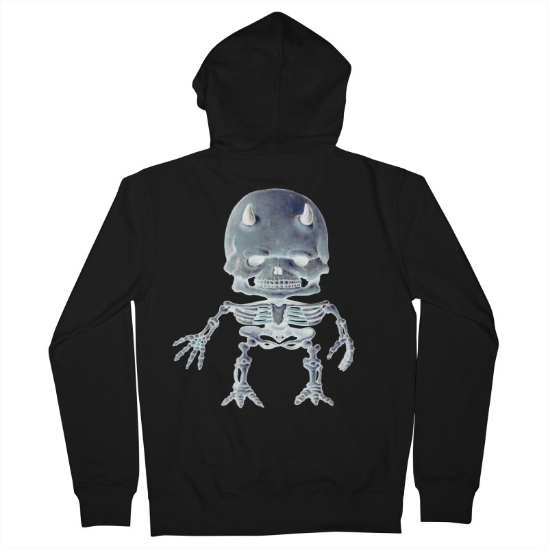 Luey Skeletal Inverted  Women's Zip-Up Hoody by Bob Dob