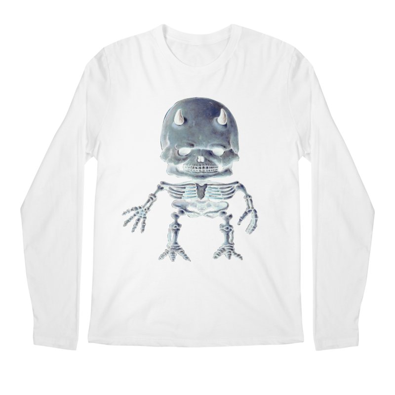 Luey Skeletal Inverted  Men's Longsleeve T-Shirt by Bob Dob