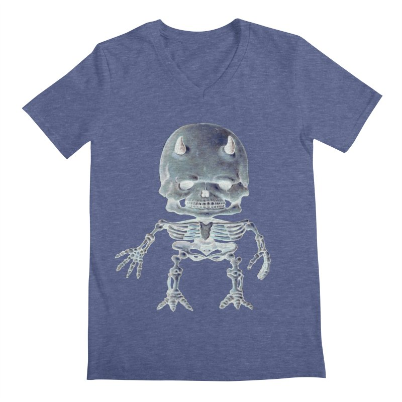 Luey Skeletal Inverted  Men's V-Neck by Bob Dob