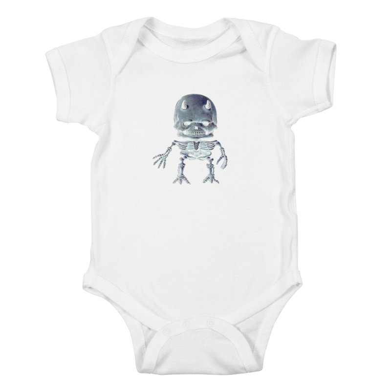 Luey Skeletal Inverted  Kids Baby Bodysuit by Bob Dob