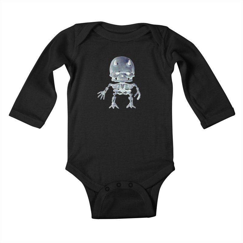 Luey Skeletal Inverted  Kids Baby Longsleeve Bodysuit by Bob Dob