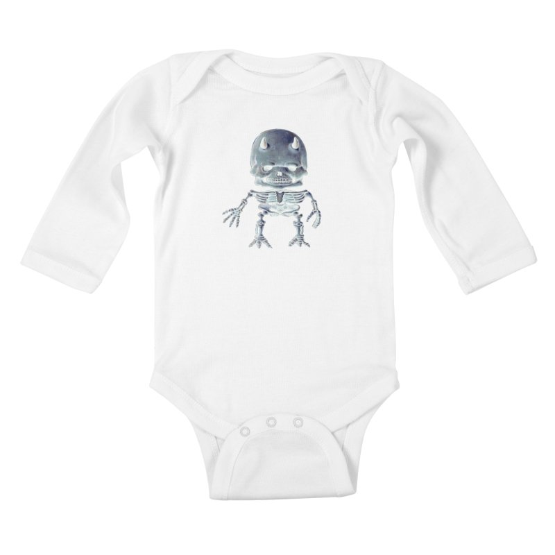 Luey Skeletal Inverted  Kids Baby Longsleeve Bodysuit by Bob Dob