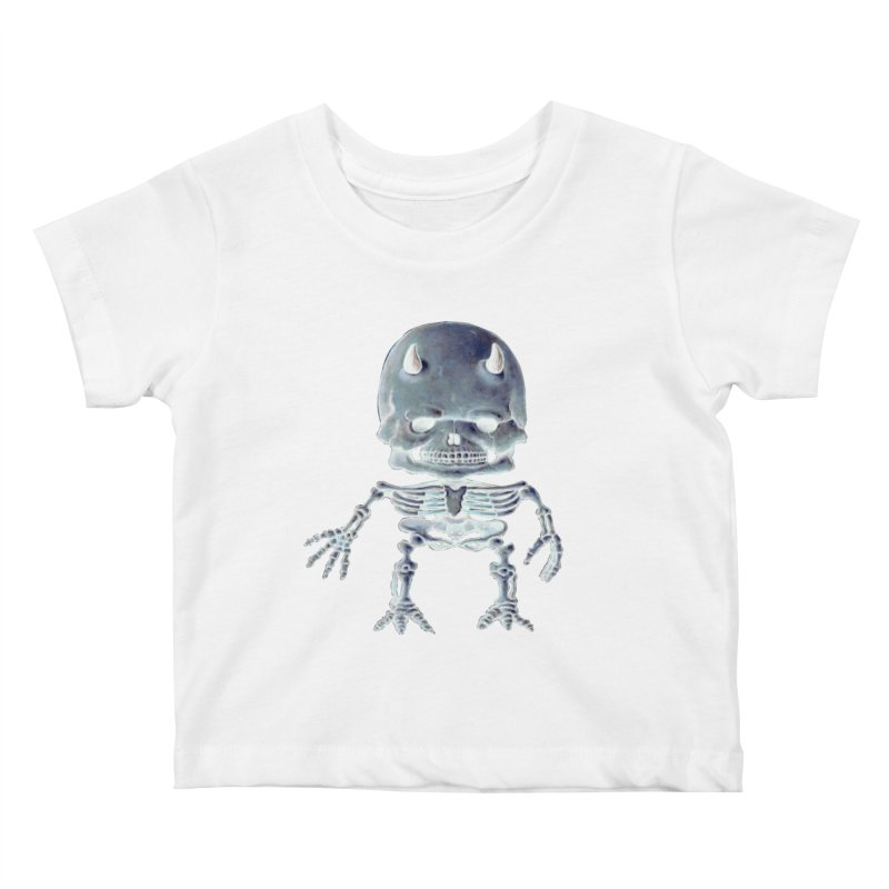 Luey Skeletal Inverted  Kids Baby T-Shirt by Bob Dob
