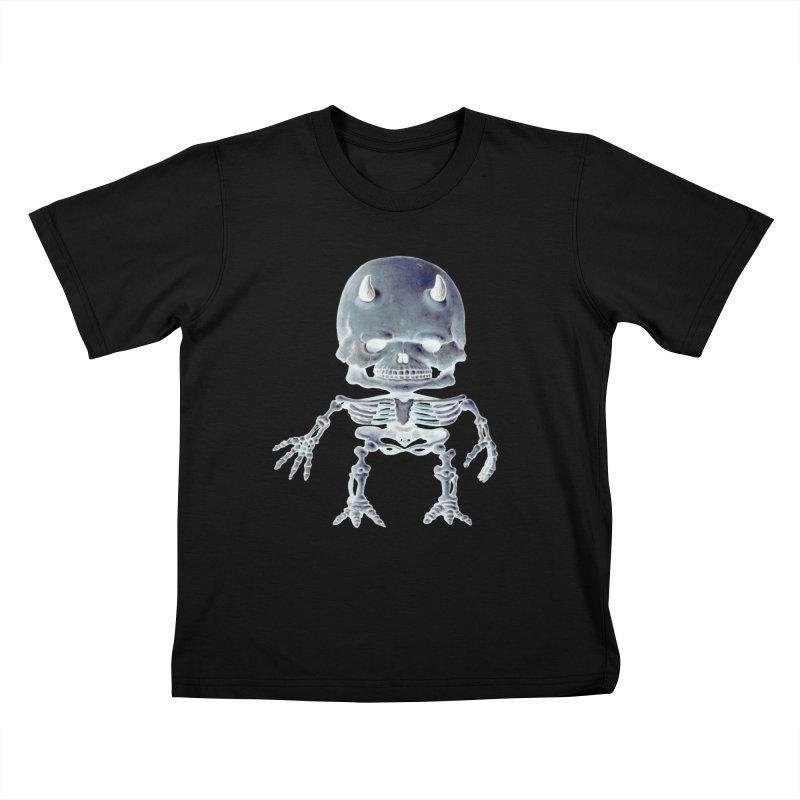 Luey Skeletal Inverted  Kids T-shirt by Bob Dob