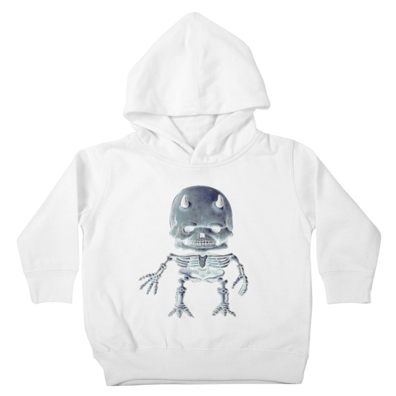 Luey Skeletal Inverted  Kids Toddler Pullover Hoody by Bob Dob