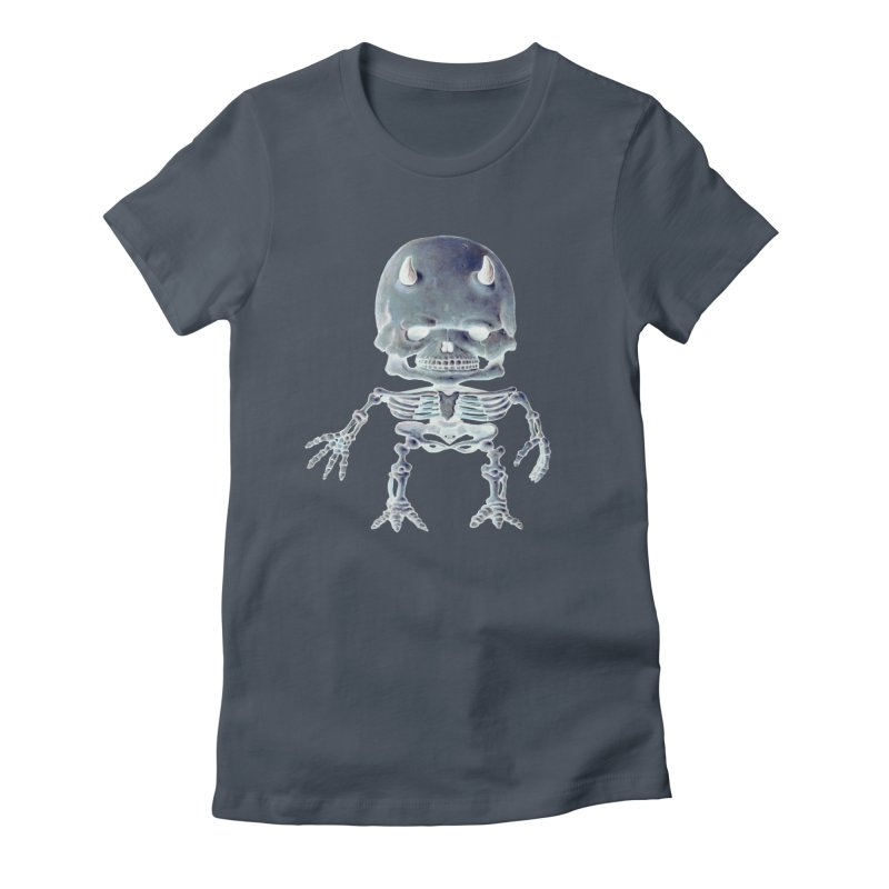 Luey Skeletal Inverted  Women's Fitted T-Shirt by Bob Dob