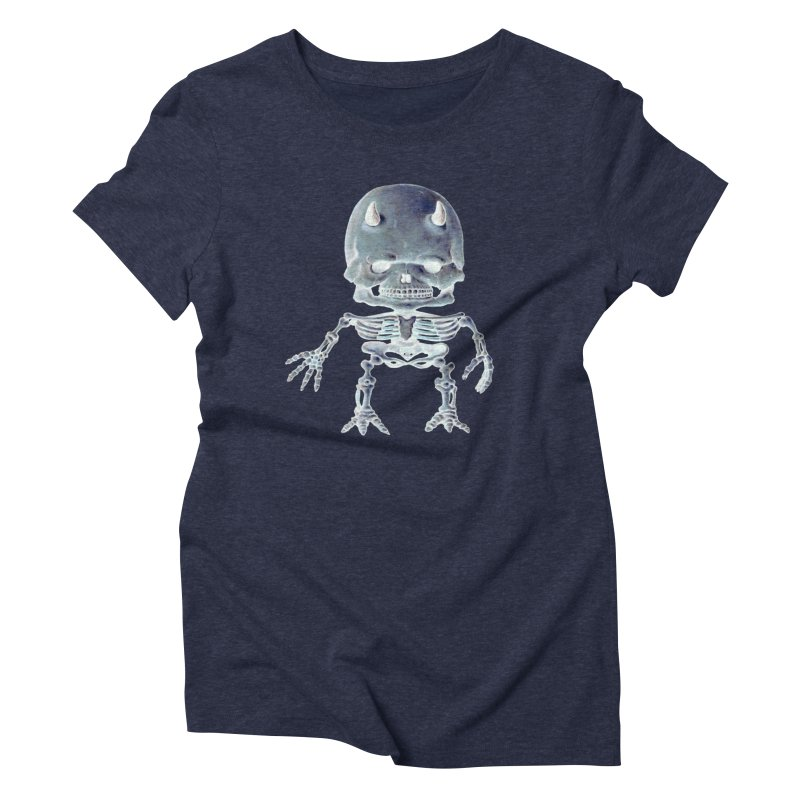 Luey Skeletal Inverted  Women's Triblend T-shirt by Bob Dob