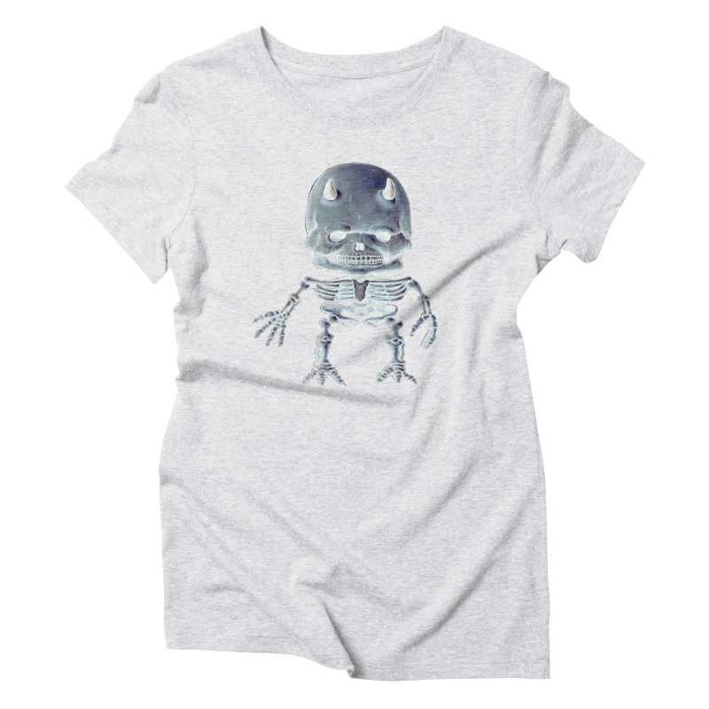 Luey Skeletal Inverted  Women's Triblend T-Shirt by Bob Dob